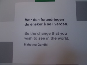 A quote from Mahatma Gandhi